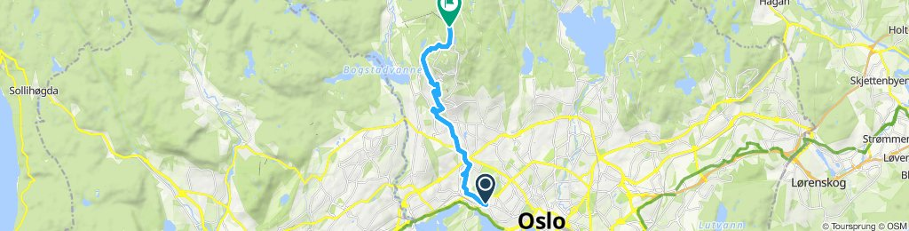 afternoon uphill ride in Oslo