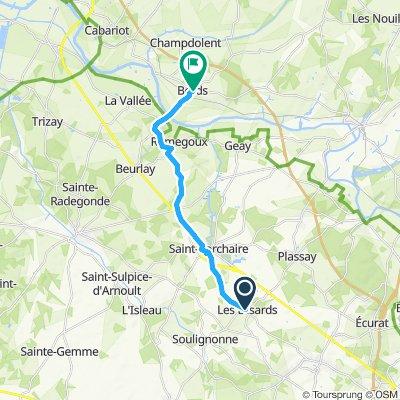 Itinéraire confortable en Saintes