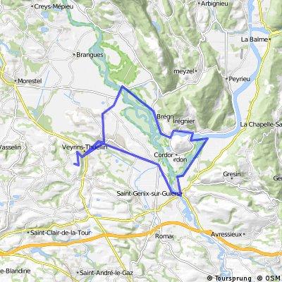 Veyrins-T - St Genix-sur-Guiers - Evieu - Veyrins T