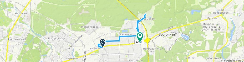 Подработка 08 08 2019 с Достависта - Амурская - Балашиха (кв-л Абрамцево)