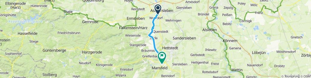 Gerade Fahrt in Mansfeld