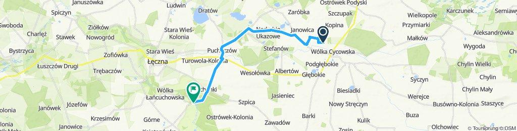 Marynka-Łańcuchów spływ 18km