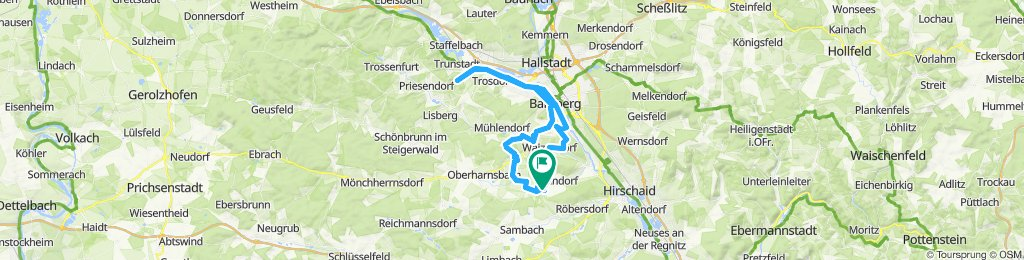 Route im Schneckentempo in Frensdorf