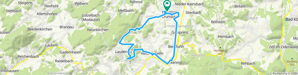 Anspruchsvolle Runde über die Ruine Rodenstein und Laudenau