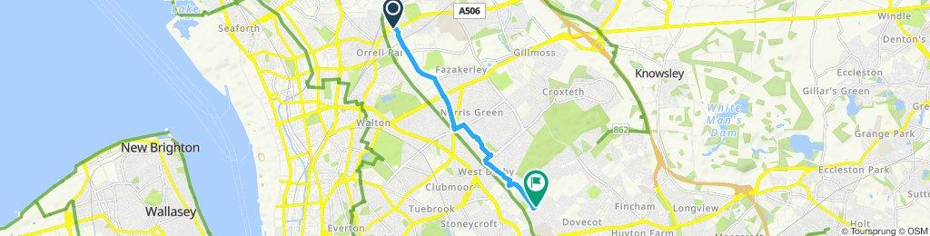 Walton vale to West Derby