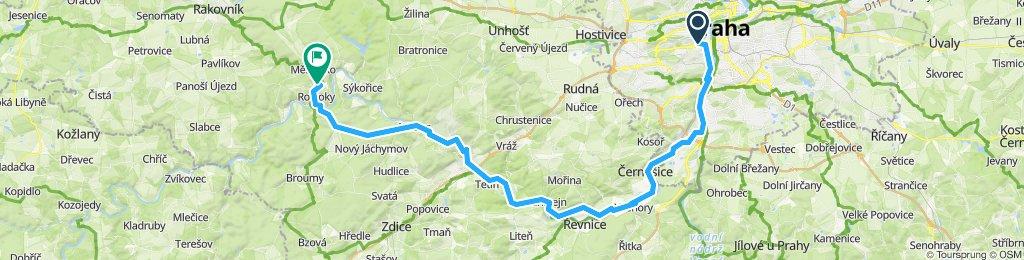 Pragues to  Křivoklát du 12 au 13