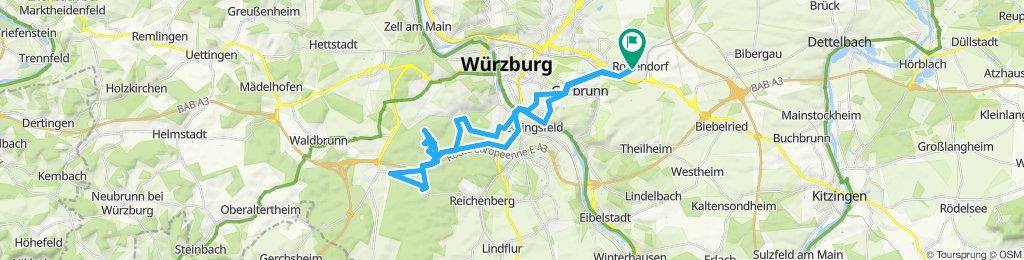 Route im Schneckentempo in Rottendorf