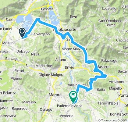 Oggiono - Galbiate - Lago di Garlate - Val San Martino - Monte Canto
