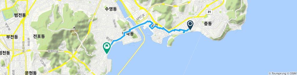 Haeundae Beach to Gwangan Beach