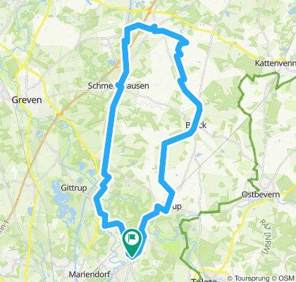 Rundtour: Handorf-Ladbergen-Brock-Handorf