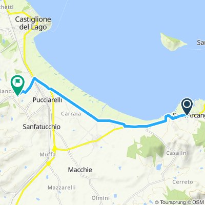Giro semplice in Castiglione del Lago