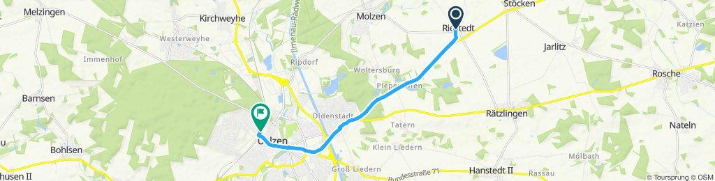 Route im Schneckentempo in Uelzen
