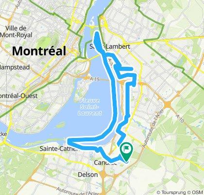 Ride avec mon fils voie maritime - circuit Gilles Villeneuve - pont Victoria