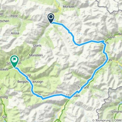 Davos - Fluella Pass - Albula Pass - Filisur