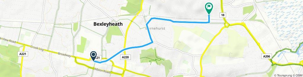 Snail-like route in Bexleyheath