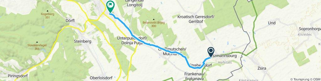 Langsame Fahrt in Oberpullendorf