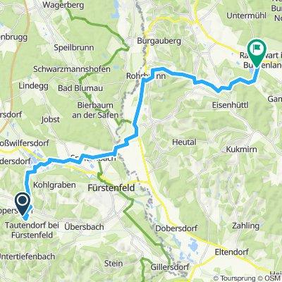 Gemütliche Route in Rohr im Burgenland