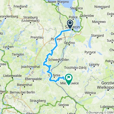 Santocka, Szczecin, Passow, Angermunde,  Hohenwutzen - Siekierki, i