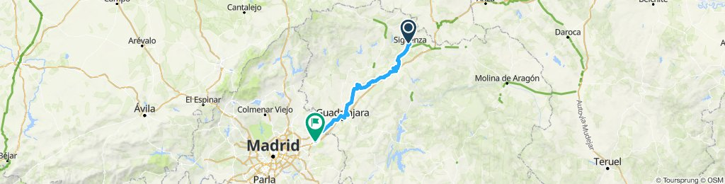 Sigüenza Alcalá de Henares por Camino del Cid