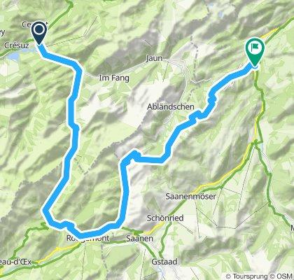 Charmey- Gros Mont-Schlündi-Weissenbach