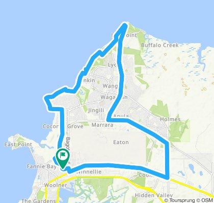 Snail-like route in Ludmilla