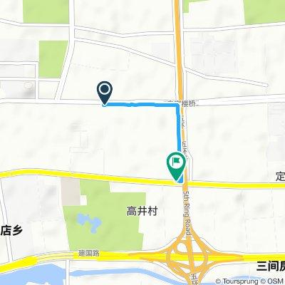 Snail-like route in Beijin