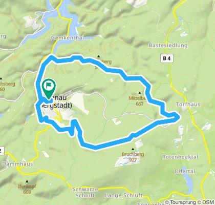 Altenau - Wolfswarte - Torfhaus - Altenau