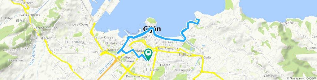Ruta constante en Gijón