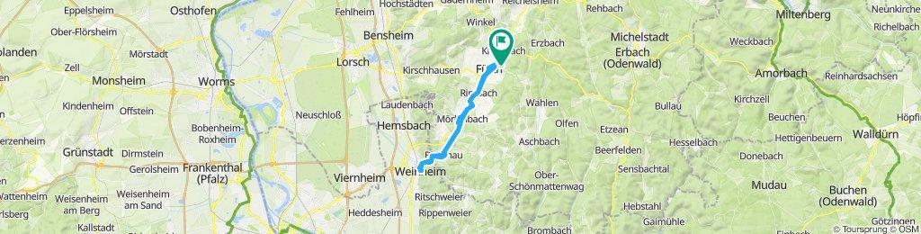 gemütliche Tour Fürth Weinheim und zurück