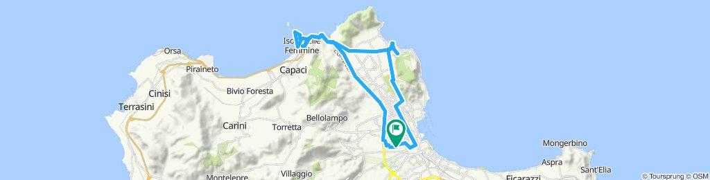 Palermo, Isola delle Femmine, Sferracavallo, Mondello, Monte Pellegrino (metà), Favorita (percorso MTB), Palermo