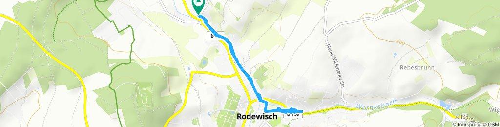Gerade Fahrt in Rodewisch