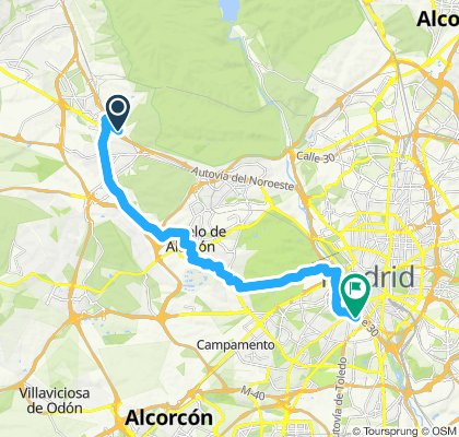 Ruta relajada de Las Rozas a Madrid Rio