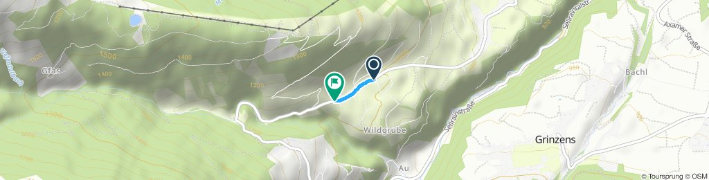 Moderate route in Oberperfuss