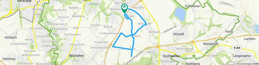 Langsame Fahrt in Alsdorf