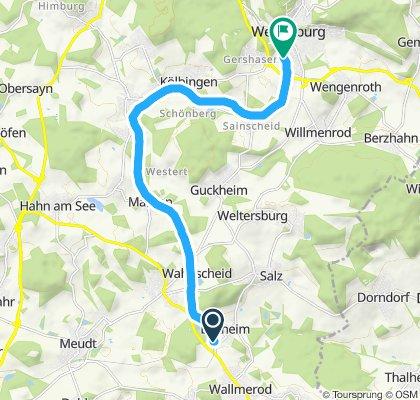 Einfache Fahrt in Wallmerod