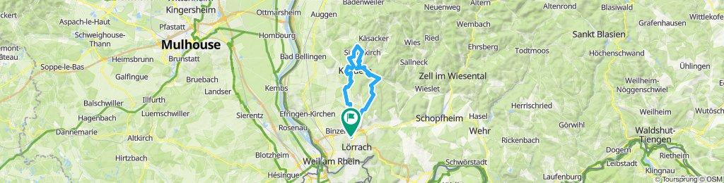 Route im Schneckentempo in Lörrach