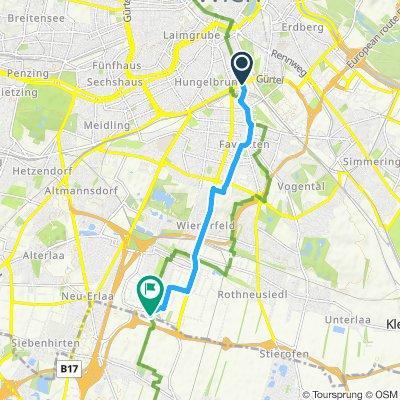 Wien - Inzersdorf - Euro Velo 9-Thermenradweg