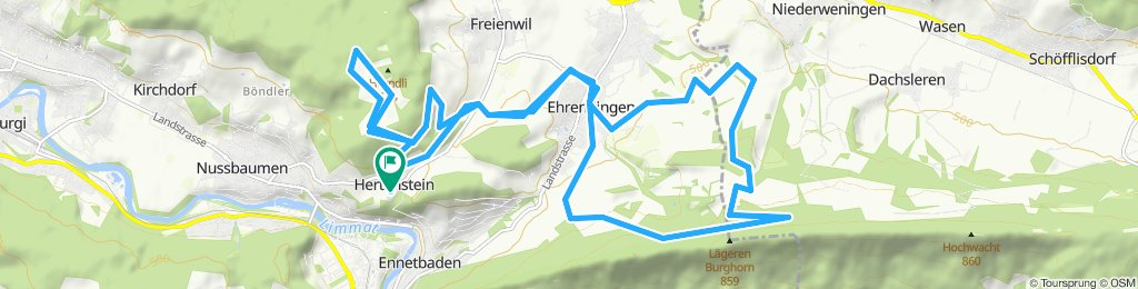 Einfache Fahrt in Nussbaumen bei Baden 11 August 2019