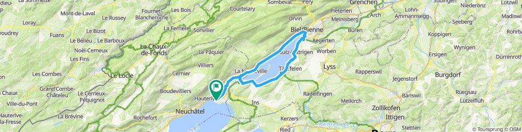 Marin - Tour du lac de Bienne - Marin