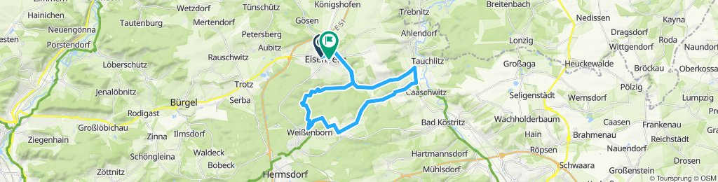 Einfache Fahrt in Eisenberg