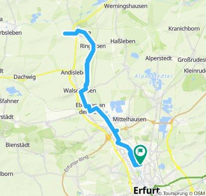 Gera Radweg Erfurt - Gebesee