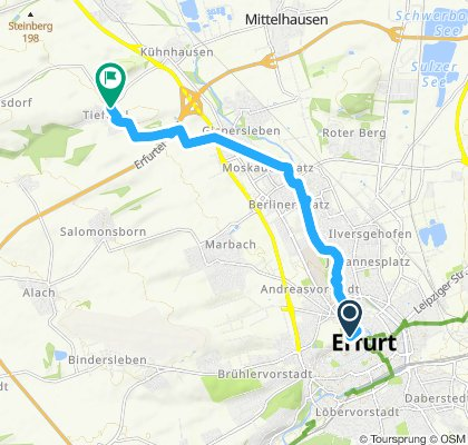 Moderate Route in Erfurt