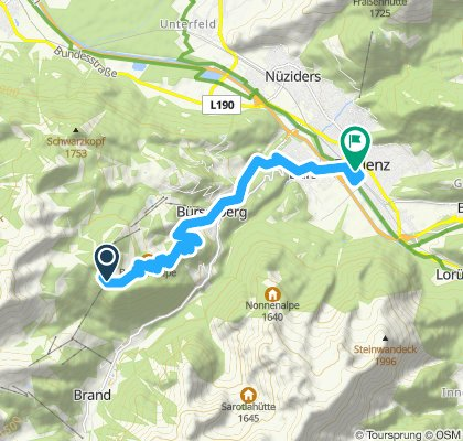 Route im Schneckentempo in Bludenz