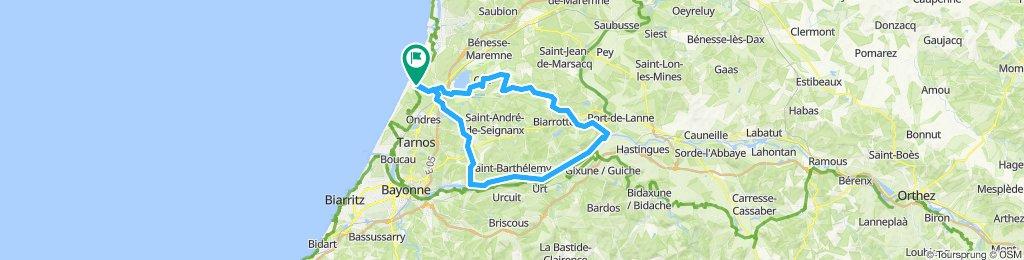 Genuß-Tour ans Adour-Ufer und zum Marais d'Orx