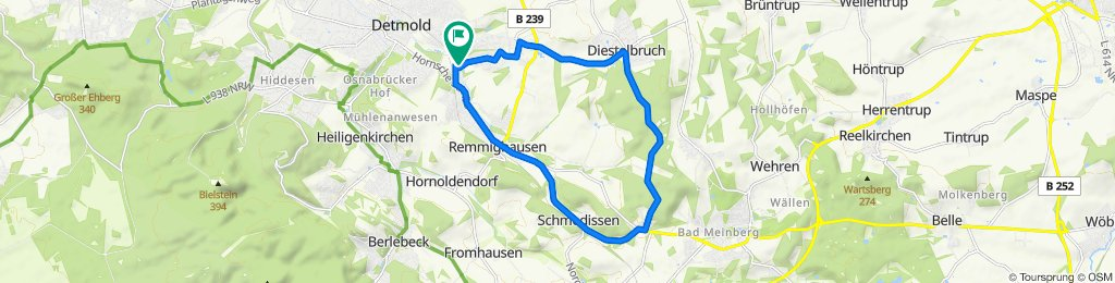Training Route in Detmold