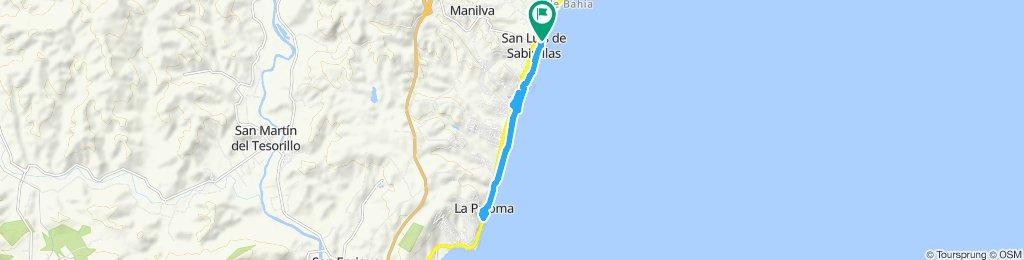 Paseo lento en Manilva