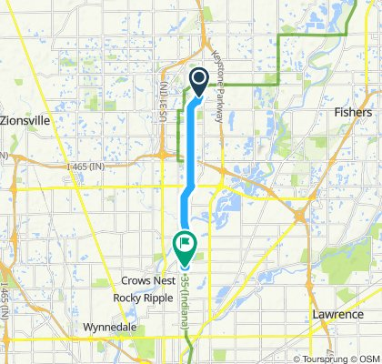 Moderate route in Indianapolis