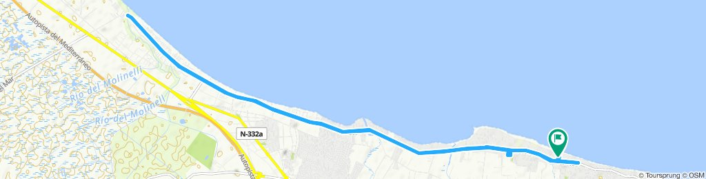 Langsame Fahrt in Dénia