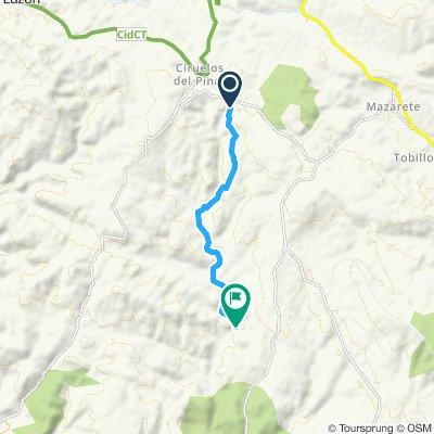 Snail-like route in Mazarete