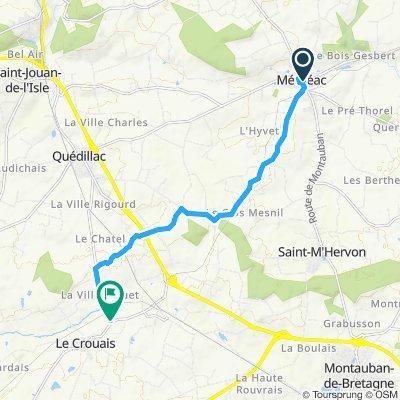 Moderate route in Le Crouais
